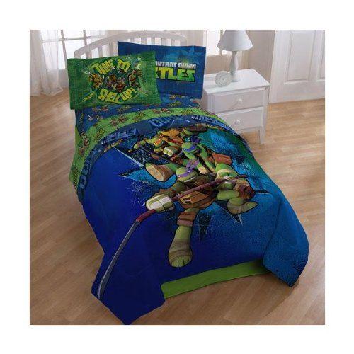 Teenage Mutant Ninja Turtles Full Bedding Comforter and Sheet Set TMNT