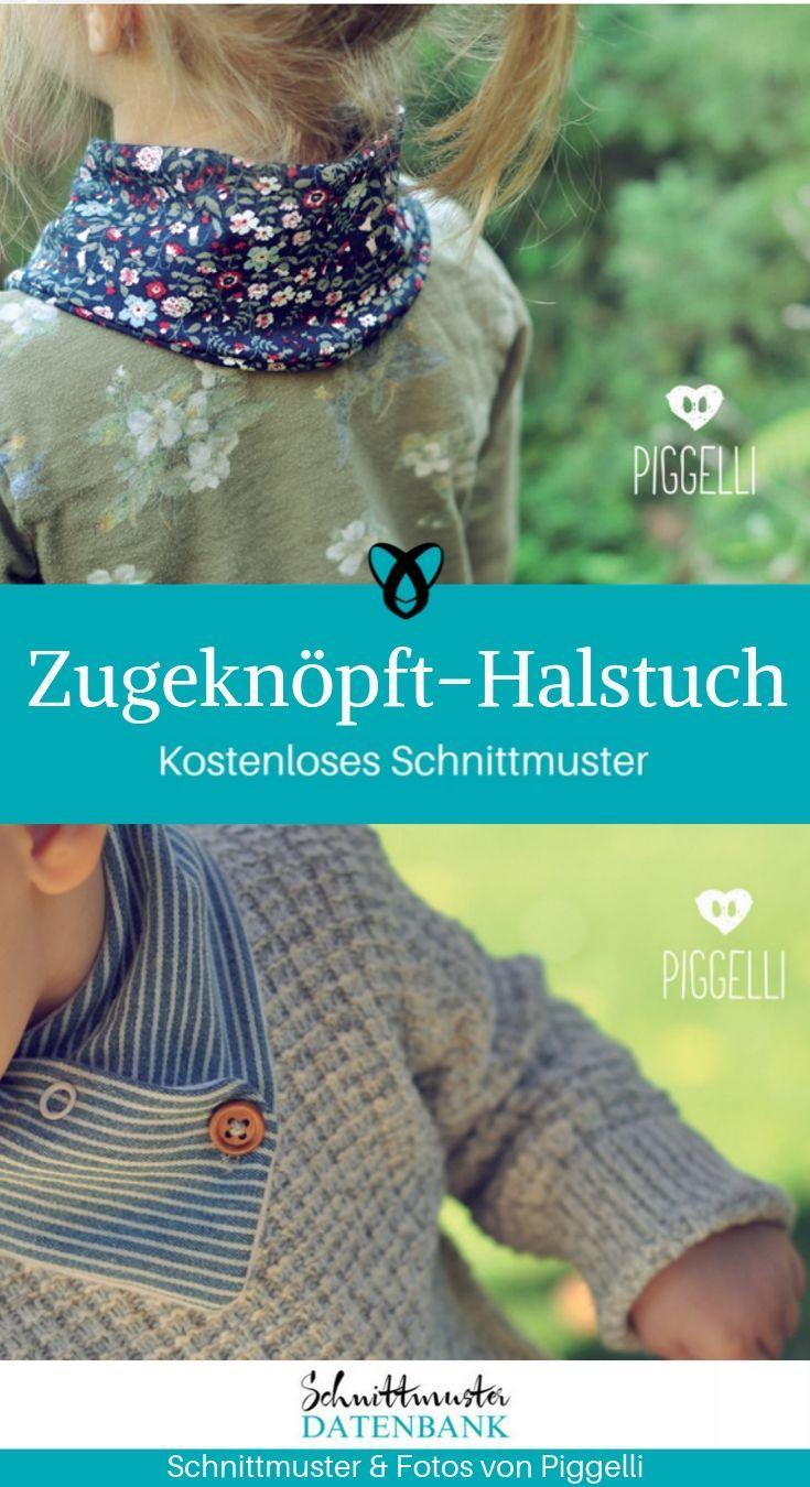 Knopfschal   – Nähen für Kinder
