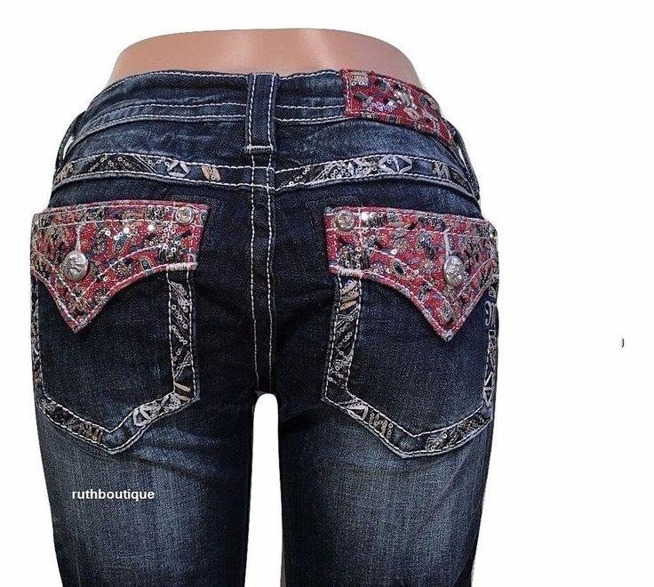 Miss Me Size 29 X 30.5 Paisley Pocket Boot Cut Jeans JP8517BD $109.50 #MissMe #SignatureBootBootCut