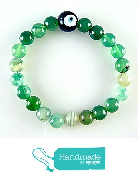 Shades of Green 8mm Beads with Evil Eye Amulet Stretch Bracelet Size 6.8'' SALE from echmeck https://www.amazon.com/dp/B01N0SXKSQ/ref=hnd_sw_r_pi_dp_DU1ezbFZ7K1SY #handmadeatamazon