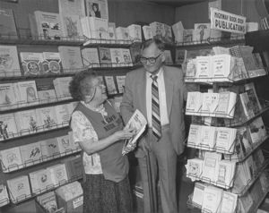 Lois and Douglas Pollard in the section containing many of the HBS Publications