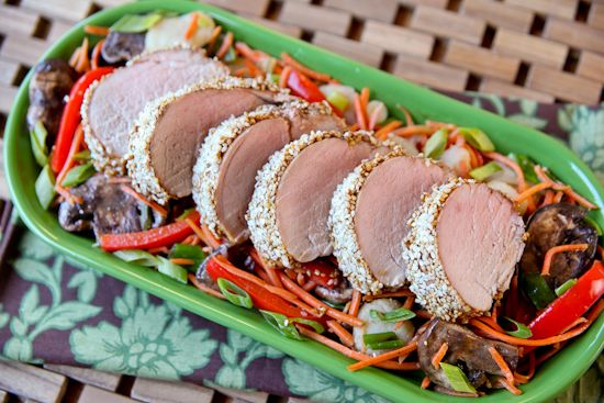 I love this pork tenderloin recipe because it is only three ingredients and simply roasts in the oven without any fuss.