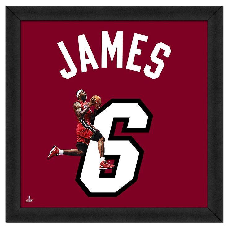 Lebron James Framed Jersey Photo, Multicolor