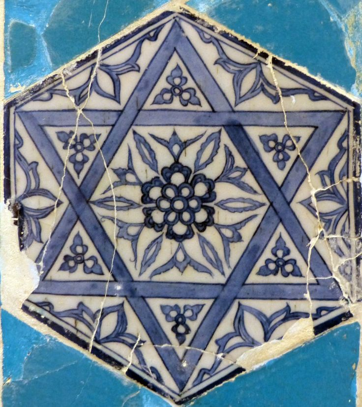 Tile - Star of David - Süleyman'ın Mührü - Turkey