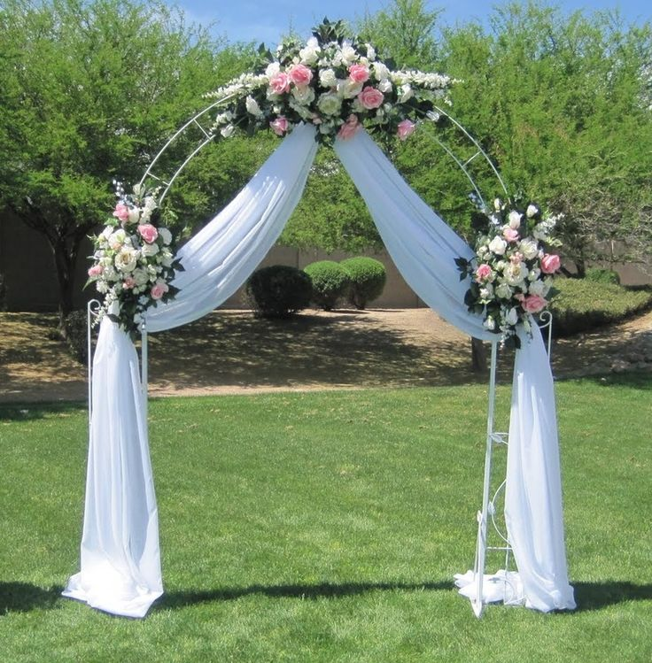 1000 ideas about metal wedding arch on pinterest church for Archway decoration
