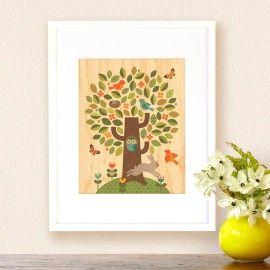 Petit Collage - schilderij boomop houtSchilderij boom van Petit Collage is gedrukt op mooidun hout. Deze prachtigeprint op esdoorn fineer hout is gedrukt met een natuurvriendelijke verf zonder schadelijke stoffen.