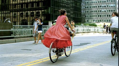 Bicycle Lady. Bill Cunningham.