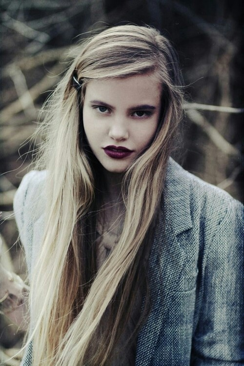 My favorite for fall: the dark plum lip. Love the look?