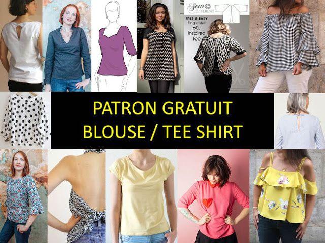 16 FREE TOP PATTERN: Tee Shirt, Tunic, blouse . Bettinael