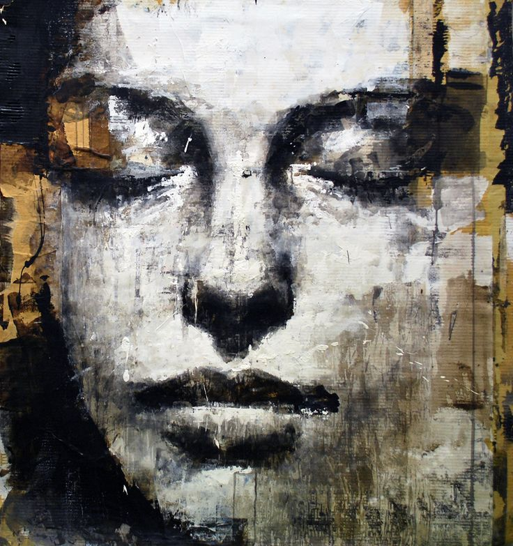 I'm In love with this artist - Max Gasparini and I want this piece -  Title: musa  Painting, Human figure, Mixed technique, Cardboard, 130x144x1cm, 2011