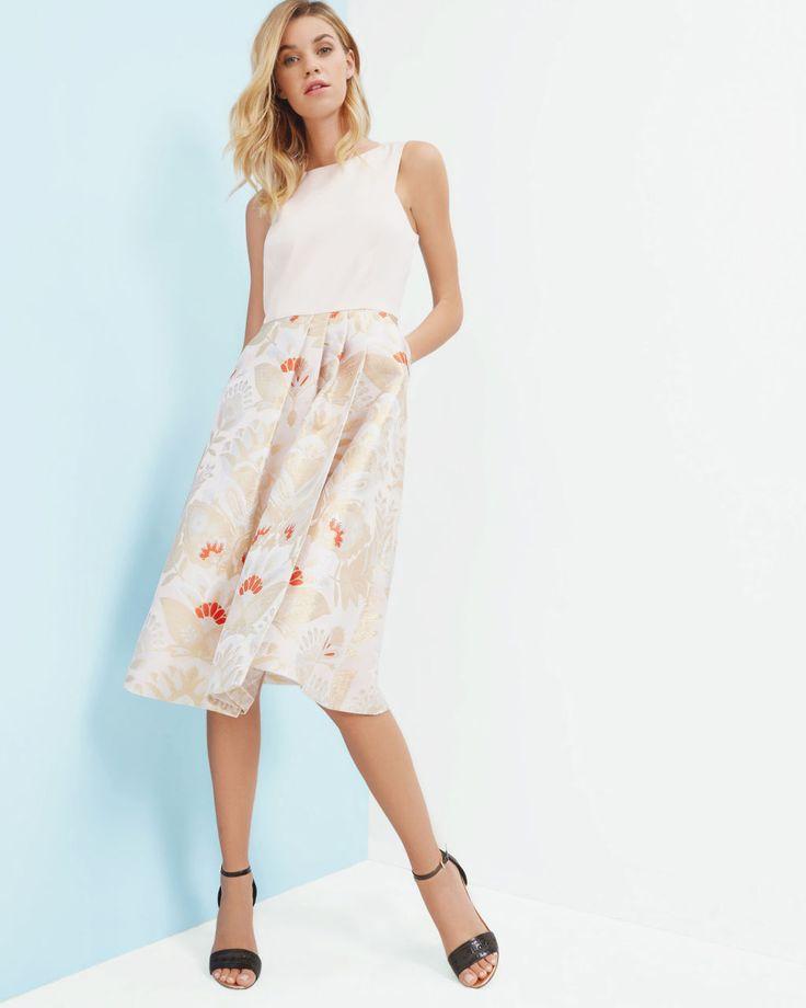 Opulent Orient midi dress - Straw   Dresses   Ted Baker Retail $429, Sale $257