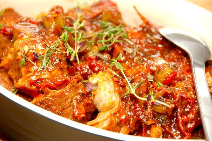 Italiensk kødgryde med himmelsk sauce.