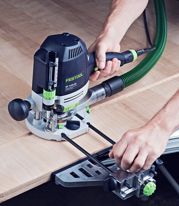festool router. festool of 1400 router with guide rail