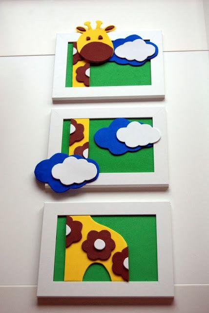 El taller de Flory Pondy: Triptico de Girafa