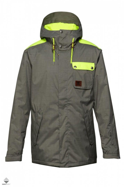Kurtka Snowboardowa Dc Shoes Mens Reality Snow Jacket Grey Lemon Edytj00019 Kpf0