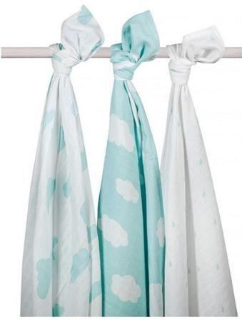Jollein муслиновые 115х115 см 3 шт. нефритовые облака  — 2100р.  Комплект пеленок 115х115 см 3 шт. Jollein сделан из мягкой дышащей ткани - муслина. Пеленки идеально подойдут для каждодневного использования: во время кормления, переодевания, в качестве легкого одеяла или накидки.