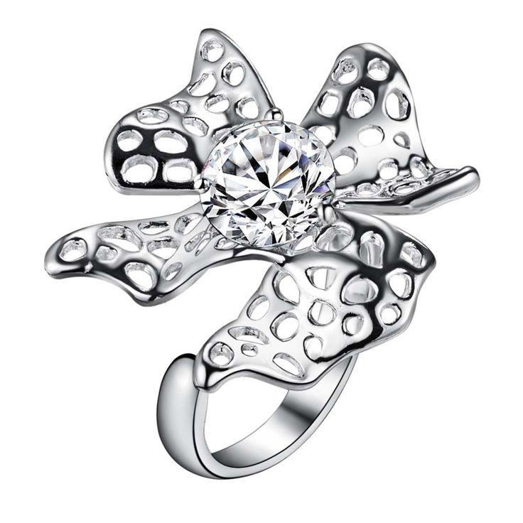 Завышенные цветок посеребренные Кольцо Мода Ювелирные Кольца Женщины и Мужчины,/PXJJJIGH XEZEAQPGкупить в магазине yinfen guo's storeнаAliExpress