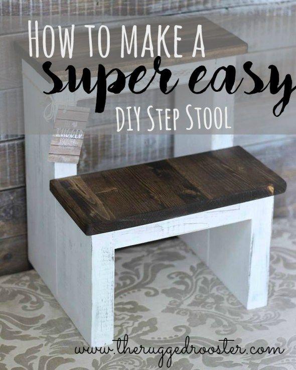 DIY Step Stool, Build A Super Easy Step Stool                                                                                                                                                                                 More