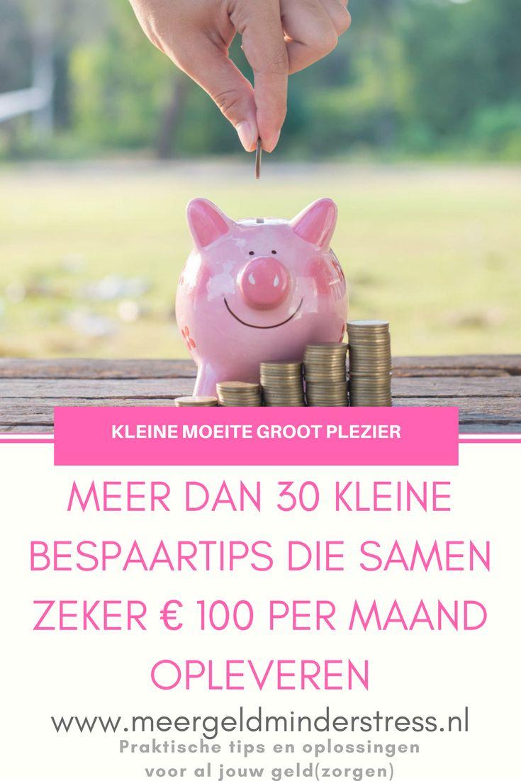 Besparen is niet moeilijk, met deze 30 snelle bespaartips. Samen leveren ze flink wat op!  #besparen #geldbesparen #bespaartips