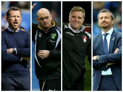 The nominations for the Sky Bet Championship Manager of the Month award for April