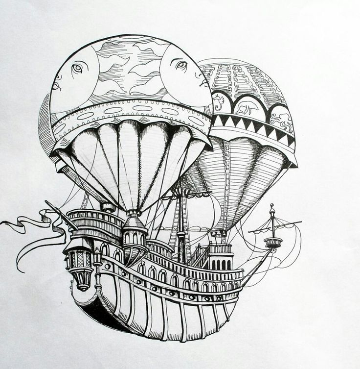 Дирижабль картинки нарисованные