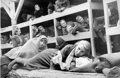 women in a concentration camp