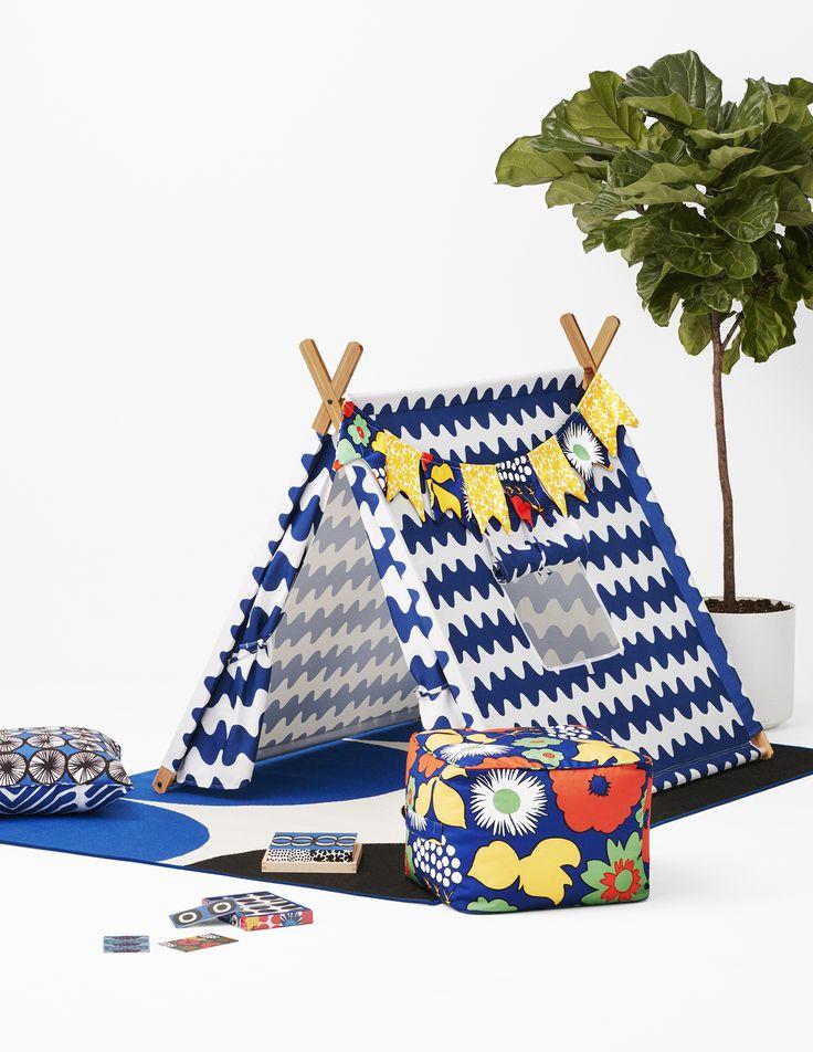 Et sånn vindu på barnerom-teltet?: Play tent and accessories from Marimekko's collaboration with Target.