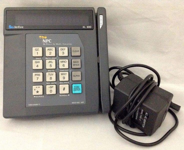 NPC VeriFone XL 300 Credit Card Scanner Swiper Terminal With Power Supply Works #NPCVeriFone