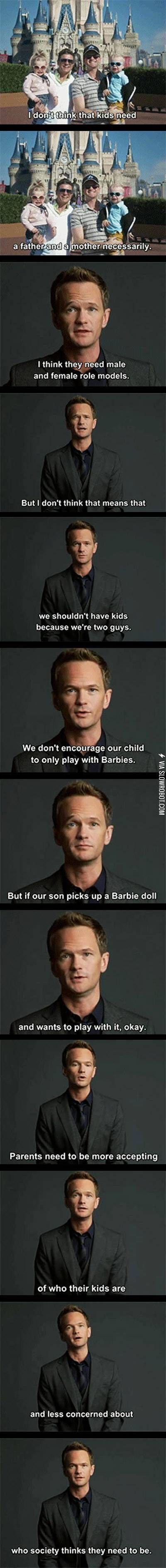 Neil Patrick Harris on parenting.