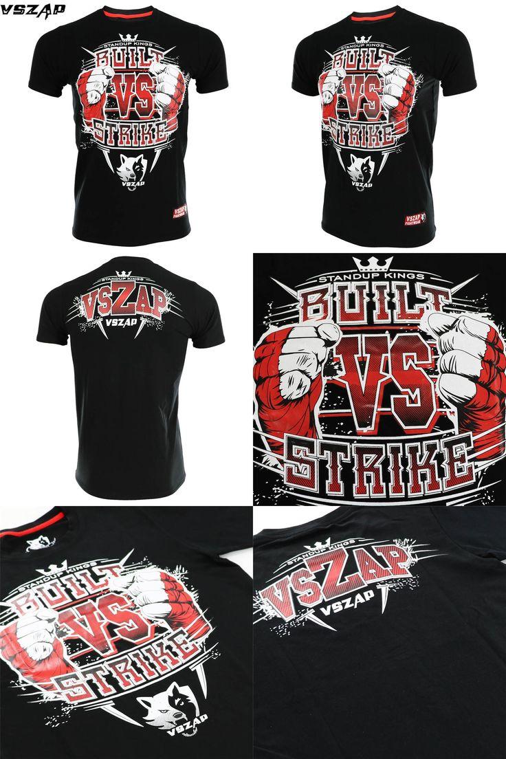 [Visit to Buy] VSZAP MMA Shirts Men T-shirt Biker Fighter Gym Fitness Sports Boxing Training tatami Shirt #Advertisement