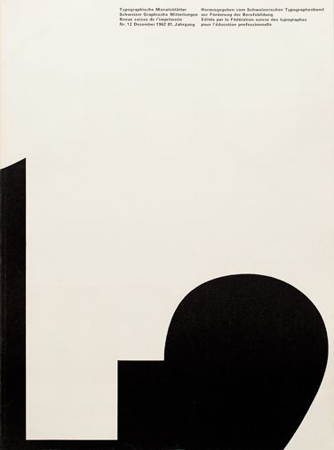 TM RSI SGM 1960–90/ Cover from 1962 issue 12/ Cover Design André Gürtler Bruno Pfäffli/ Typeface Univers