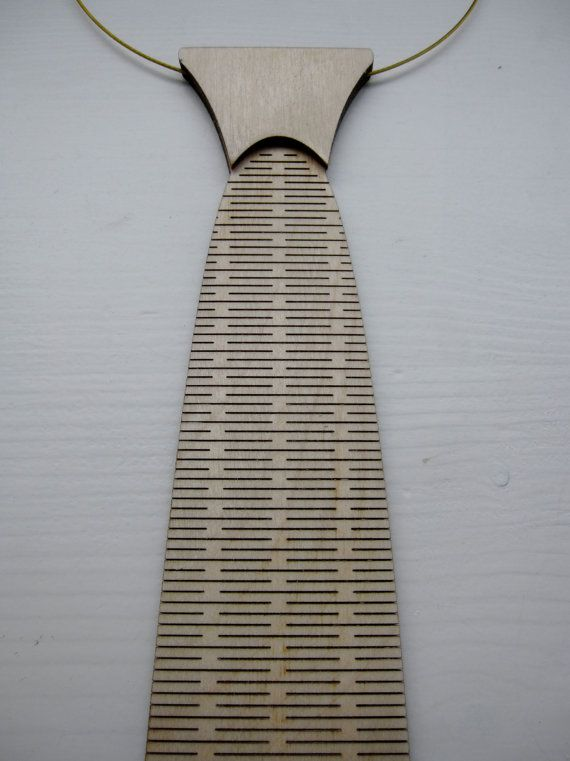 Necktie / choker / tie made from wood laser by CreativeUseofTech