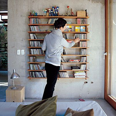 Roseland Greene: CD storage (from Dwell)