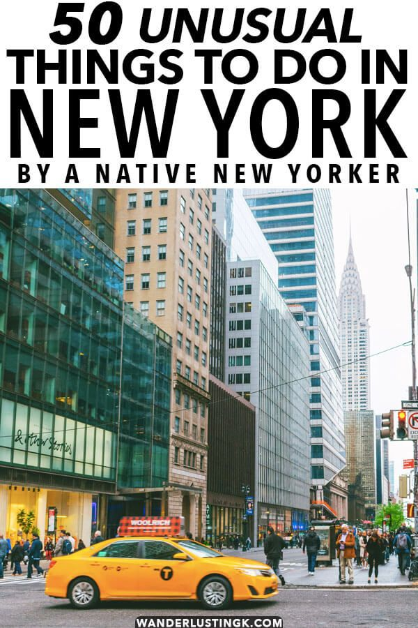 50 unusual things to do in New York City by a native New Yorker