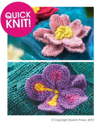 188 Best Knit Flowers Images On Pinterest Crocheted Flowers
