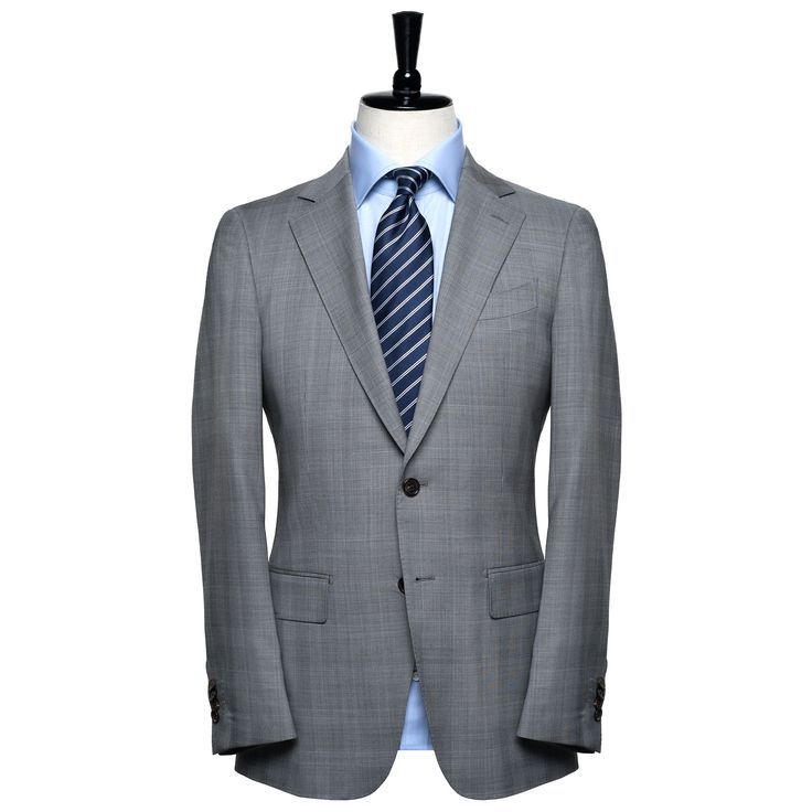 Buy Light Grey Prince of Wales Check - Contemporary Fit Men's Suit online at Spier & Mackay. This suit is made from 100% Merino Wool. For more details, visit: http://www.spierandmackay.com/product_information/4036_light_grey_prince_of_wales_check___contemporary_fit