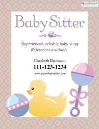 Baby sitting flyer 2