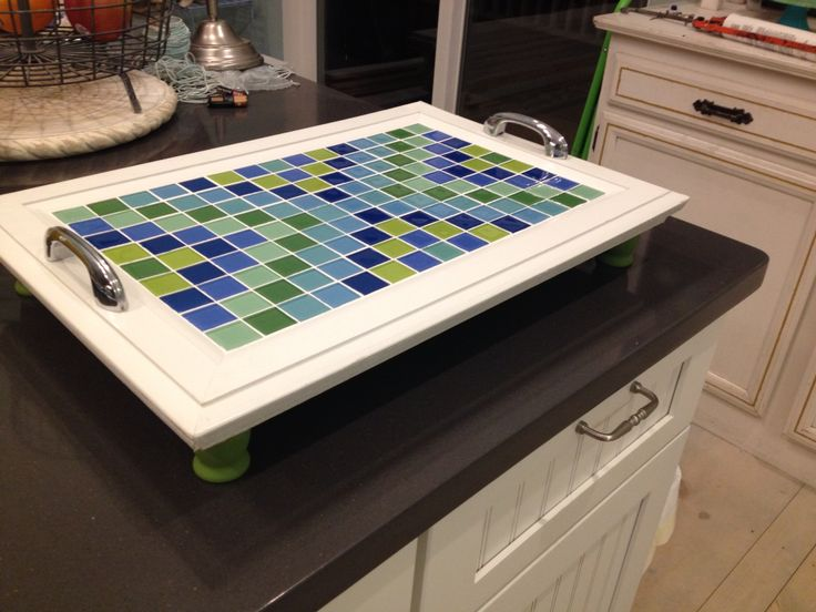 My mosaic tray
