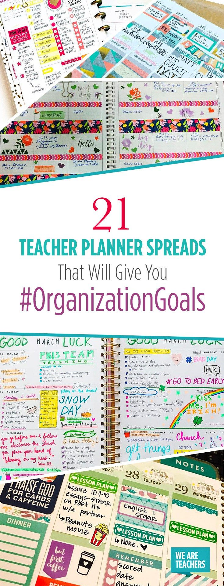 21 Teacher Planner Spreads That Will Give You #OrganizationGoals - WeAreTeachers