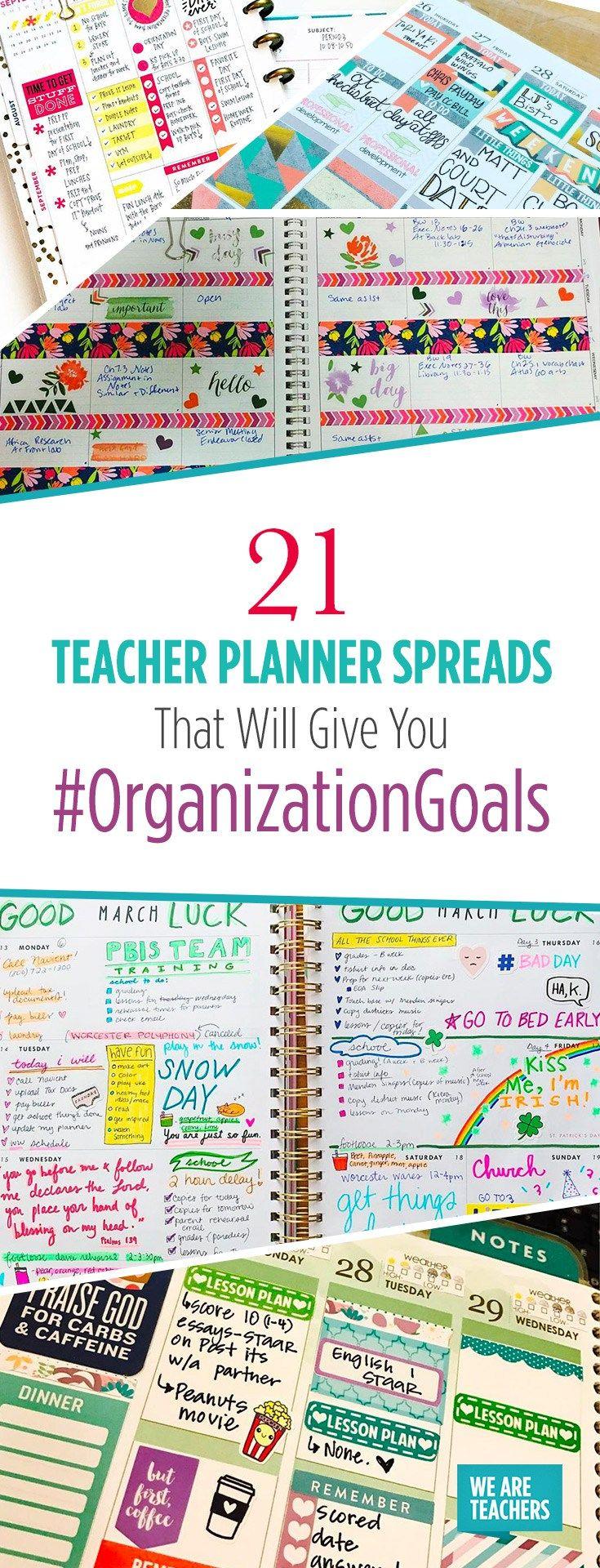 21 Teacher Planner Spreads That Will Give You #OrganizationGoals - WeAreTeachers
