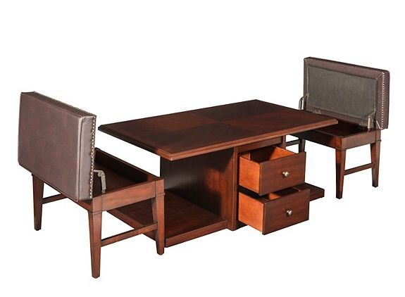 Lawson Coffee Table W 2 Storage Benches Coffee Tables Raymour And Flanigan Furniture
