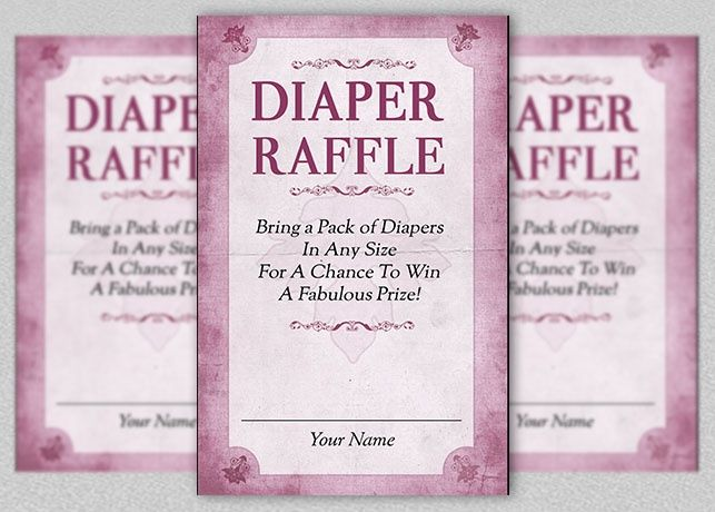 diaper raffle card template creative flyer template and the o 39 jays. Black Bedroom Furniture Sets. Home Design Ideas