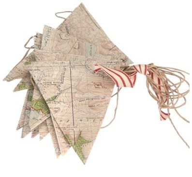 Map buntings: Travel Theme, Antiques Maps, Idea, Boys Rooms, Vintage Maps, Maps Buntings, Maps Banners, Maps Pennant, Repurpo Maps