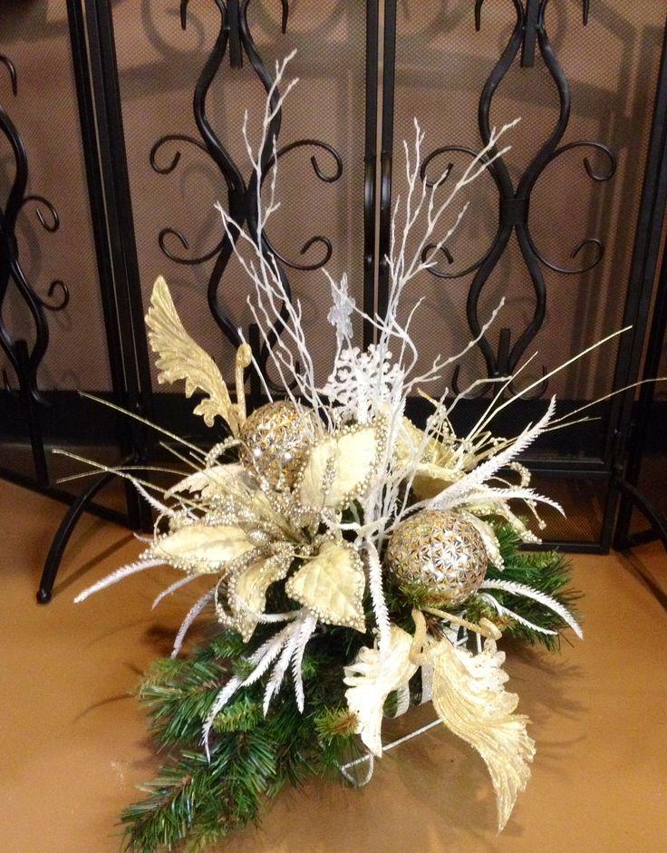 25 b sta arreglos de navidad id erna p pinterest for Centros de mesa navidenos elegantes