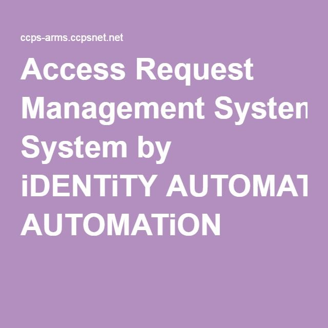 Access Request Management System by iDENTiTY AUTOMATiON Art - access request form