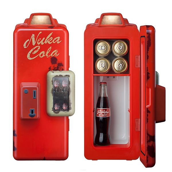 Fallout Nuka Cola Machine Mini Refrigerator Is A Celebration Of The Wasteland's Favorite Thirst Zapper -  #drinks #fallout #office