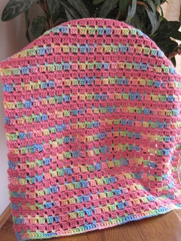 Block-Stitch Baby Blanket By Kathy North - Free Crochet Pattern - (ravelry)