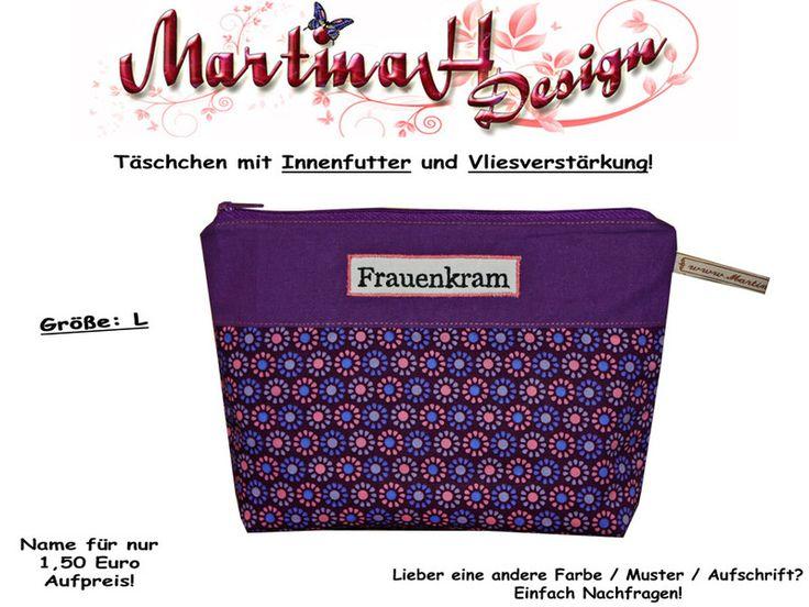 Größe: L  Kosmetiktasche  Frauenkram  Blumen von MartinaH-Design auf DaWanda.com