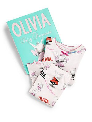 "Books To Bed Toddler's & Little Girl's ""Olivia & The Fairy Princess"" P"