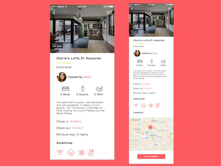 Airbnb Redesign: Content Details Screen